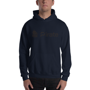 Pirate Logo Black Hooded Sweatshirt