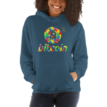 Load image into Gallery viewer, Bitcoin Autism Awareness Unisex Hoodie
