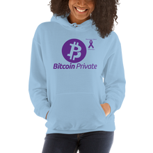 Load image into Gallery viewer, Bitcoin Private Pancreatic Cancer Awareness Unisex Hoodie