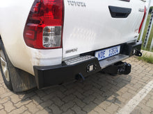 Load image into Gallery viewer, Rear Bumper towbar – Square Step +LED Lights (Hilux revo 2016-Current)