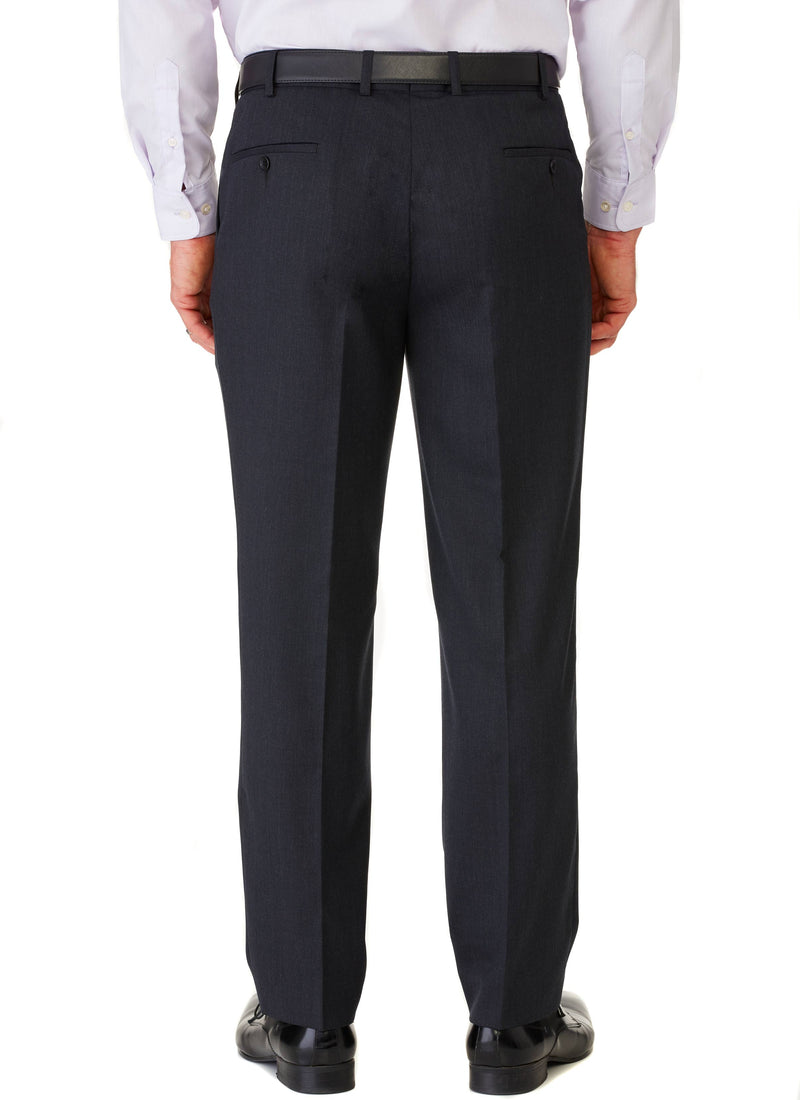 AVOCA WOOL RICH PLEATED TROUSER - CHARCOAL
