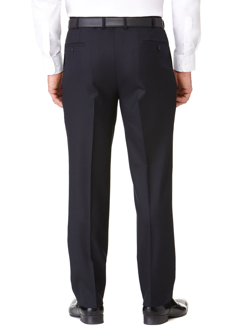 BANYAN PLEATED TROUSER - NAVY