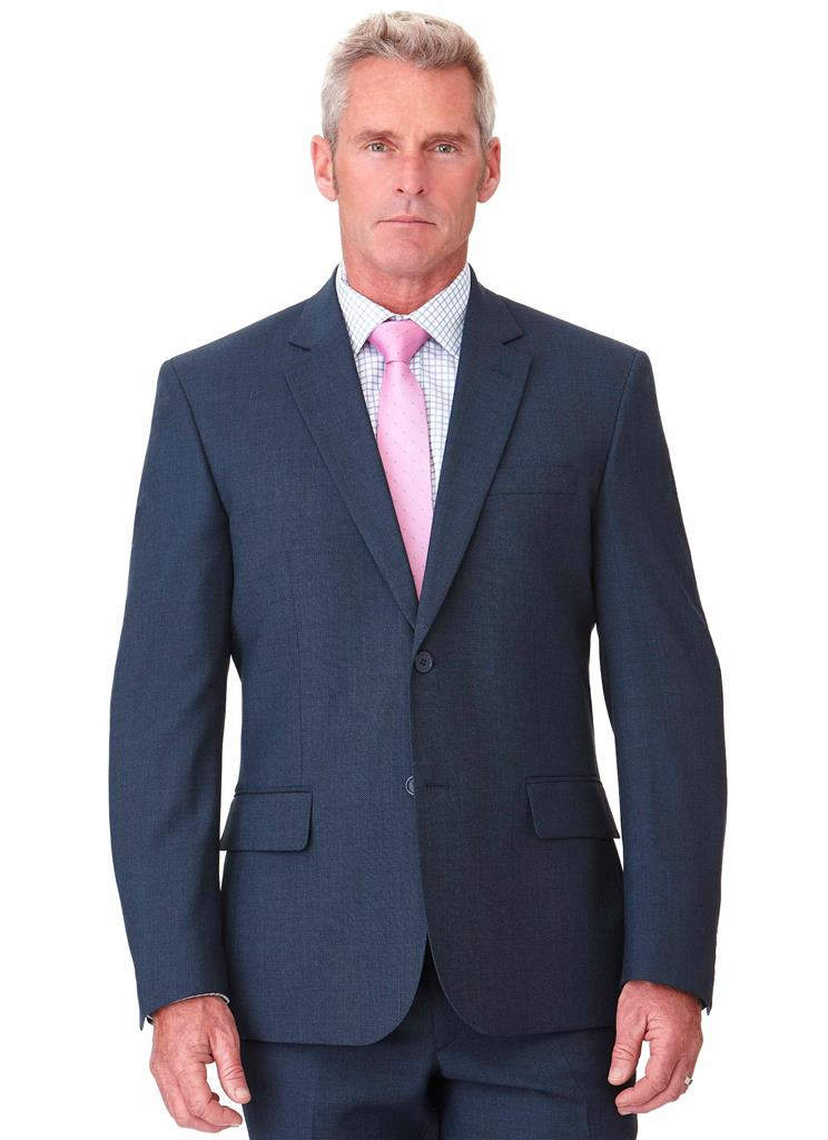 BARWON CONTEMPORARY FIT JACKET - BLUE BIRDSEYE