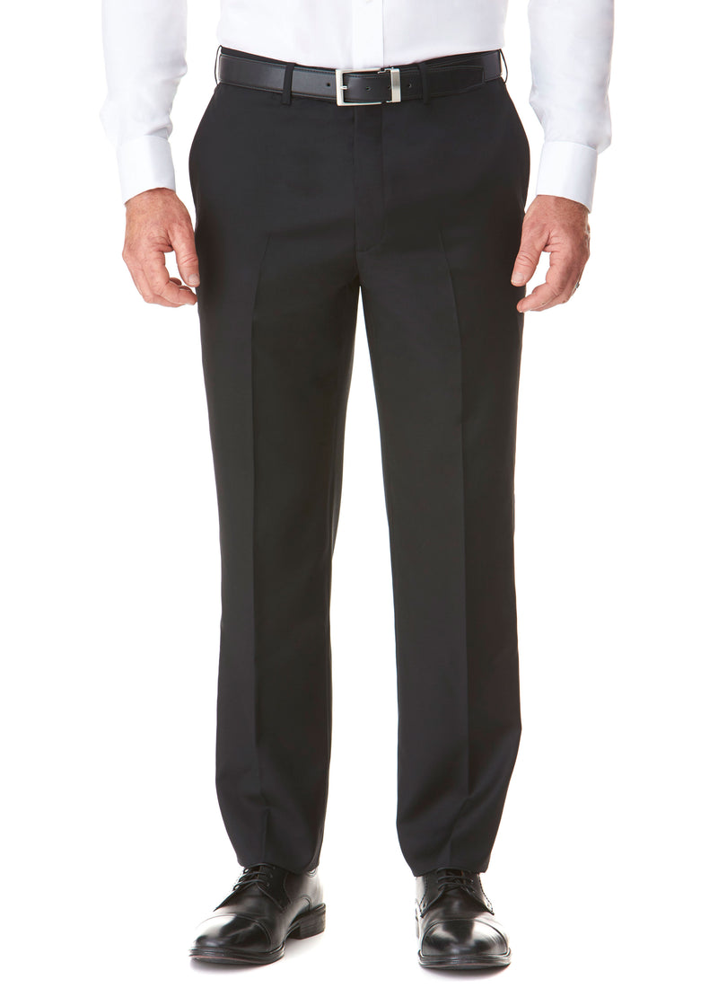 BASS FLAT FRON TROUSER - BLACK
