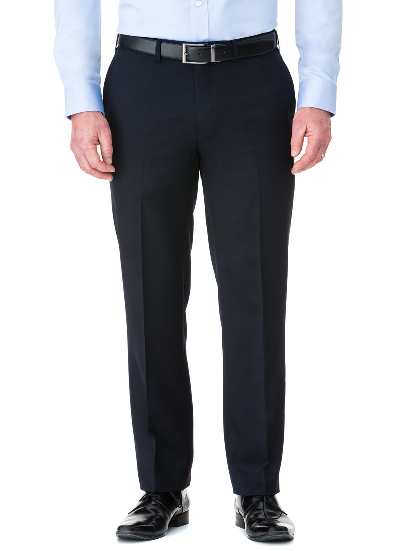 CHARLTON WOOL RICH LOW RISE TROUSER - NAVY