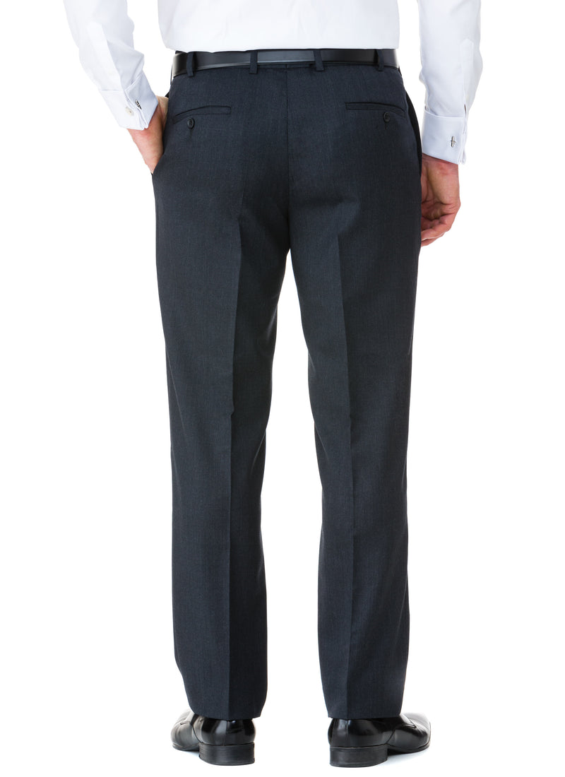 CHARLTON WOOL RICH LOW RISE TROUSER - CHARCOAL