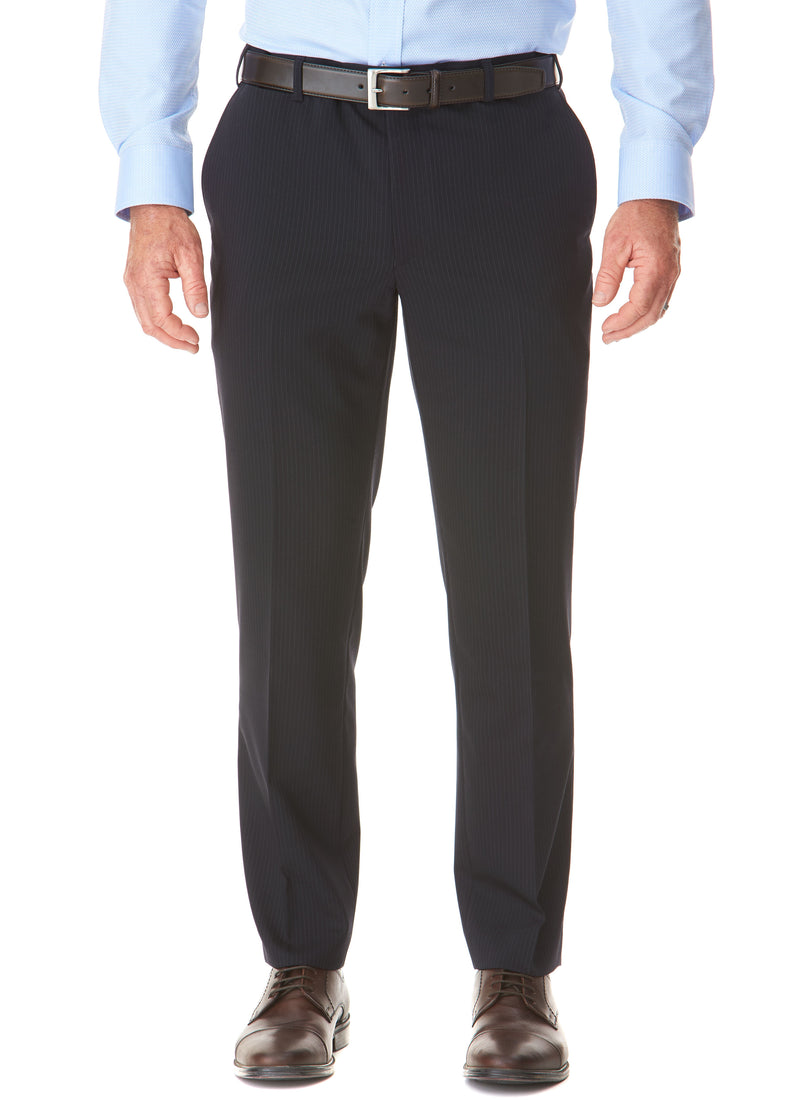 EILDON CONTEMPORARY FIT TROUSER - NAVY PINSTRIPE
