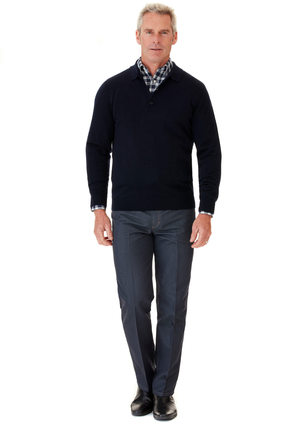 GLENORCHY POLO COLLAR KNIT