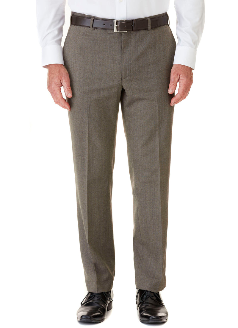 HEATHCOTE FLAT FRONT TROUSER