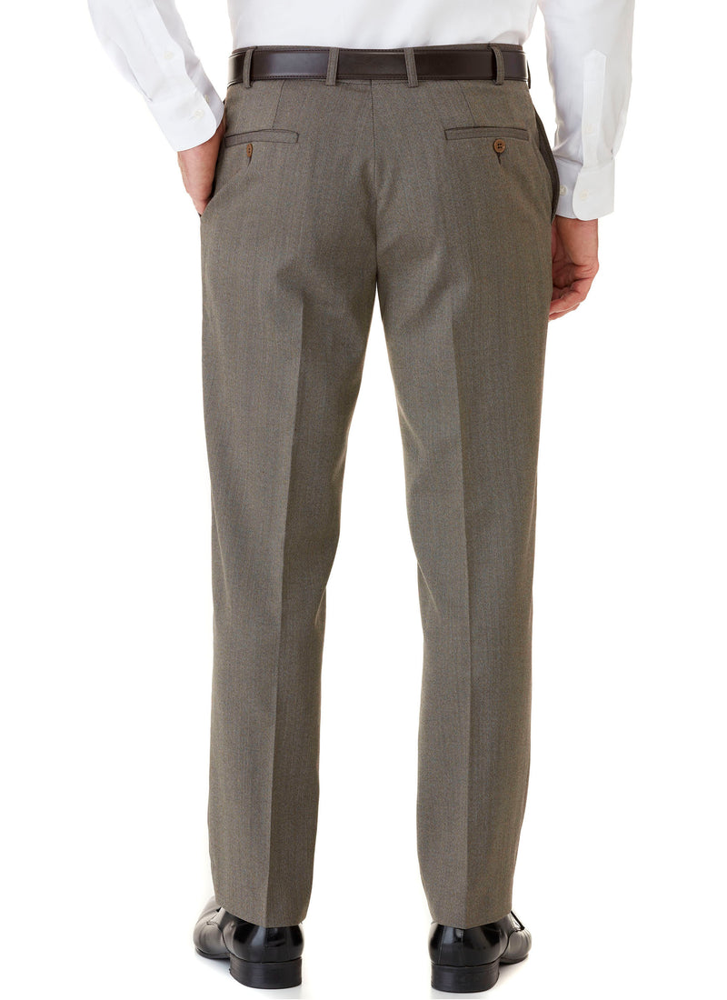 HEATHCOTE FLAT FRONT TROUSER (NEW STOCK OF GREY JUST ARRIVED)