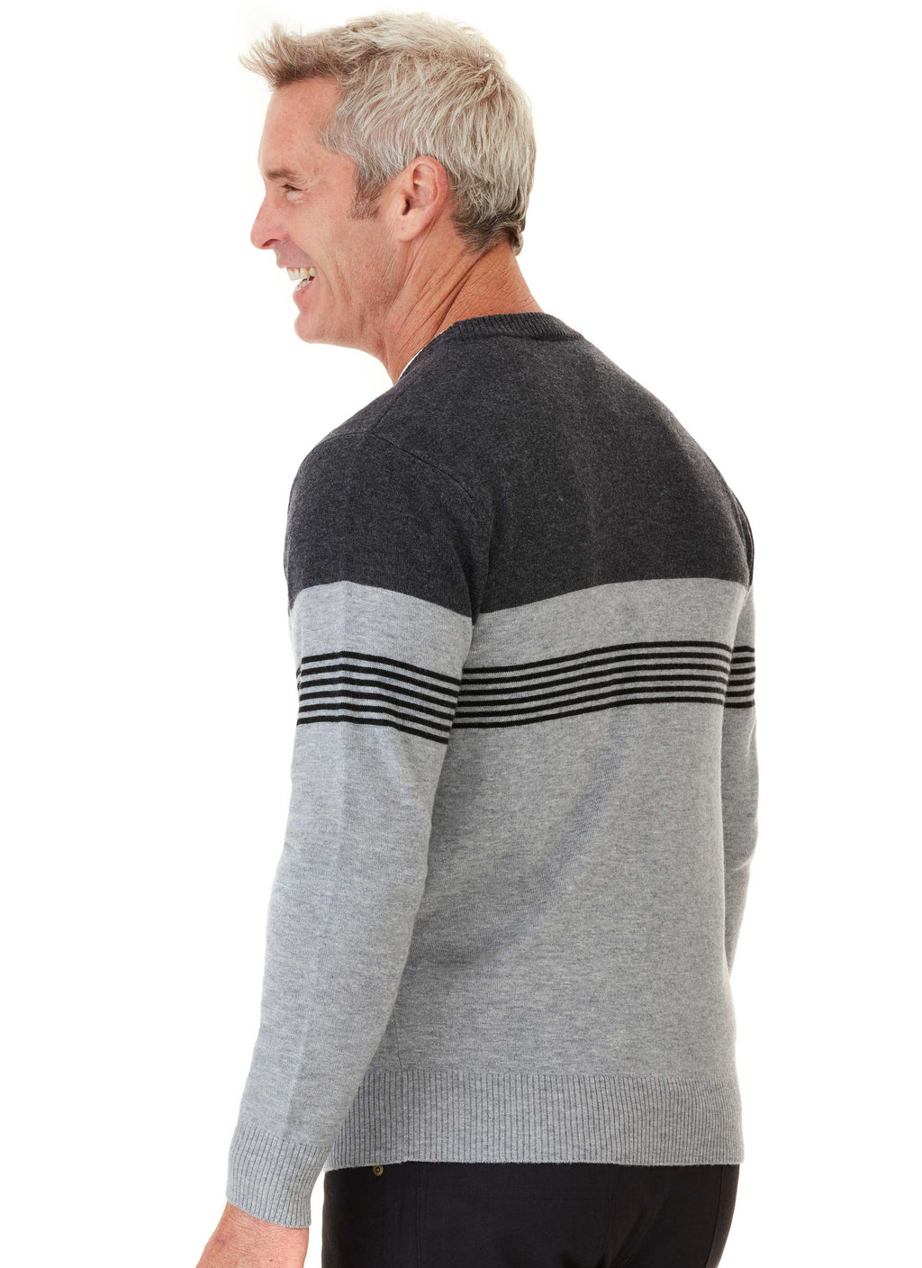 BIRRALEE CREW NECK WITH STRIPE DETAIL