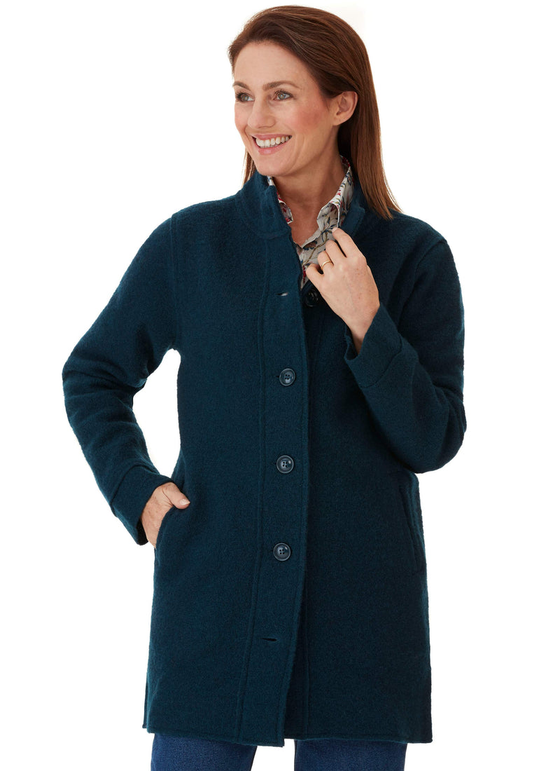 LALLA BOILED WOOL COAT