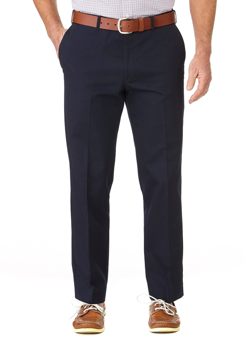 CLARENDON FLAT FRONT CASUAL TROUSER