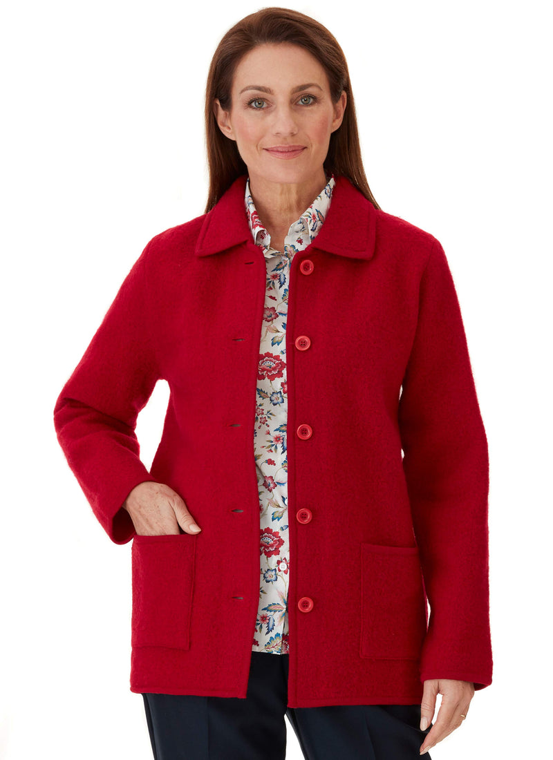 MAYDENA BOILED WOOL JACKET