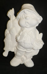 Boy Fisherman - Handcrafted Ceramics