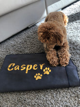 Load image into Gallery viewer, XL Personalised Microfibre Towel with Paw Prints