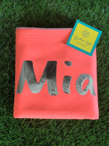 XL Microfibre Towel in Coral with Grey Trim