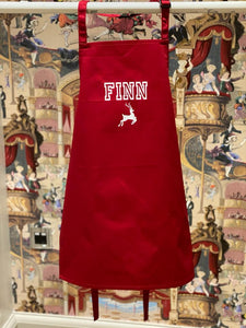 Red Personalised Apron