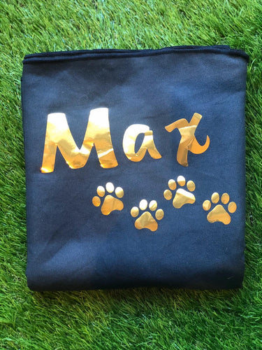 XL Personalised Microfibre Towel with Paw Prints