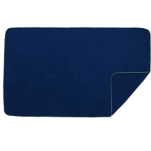 Load image into Gallery viewer, XL Microfibre Towel in Navy with Green Trim