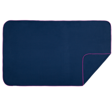 Load image into Gallery viewer, XL Microfibre Towel in Navy with Fuschia Trim