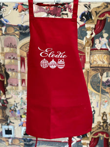 Red Personalised Christmas Apron