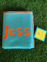 Load image into Gallery viewer, XL Microfibre Towel in Seafoam with Orange Trim