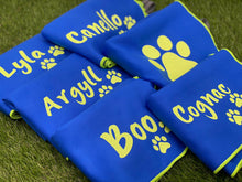 Load image into Gallery viewer, Small Personalised Microfibre Towel with Paw Prints
