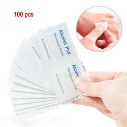 100pcs Household Health Disposable Alcohol Pads Alcohol Wipes