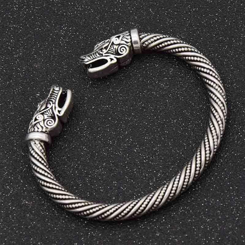 Viking Arm Ring Fenrir's Wolf Head