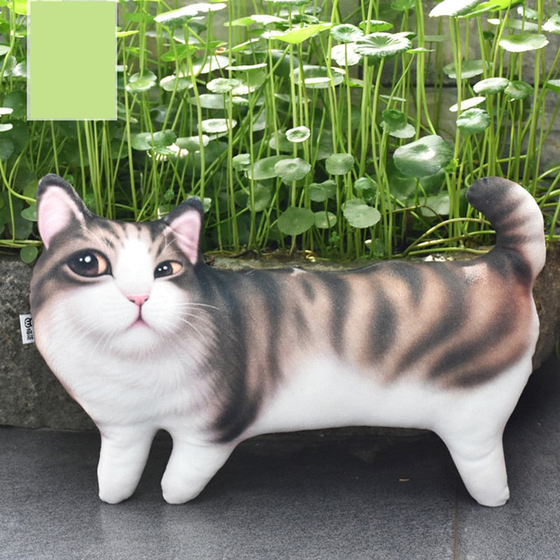 1Pc Creative 3D Standing Cats Pillow