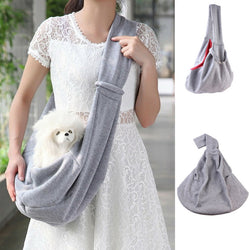 Grey Pet Cats Sling Carrier Bag Tote Shoulder Travel