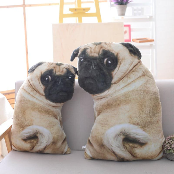 3D Simulation Belldog  Plush Toy Pillow