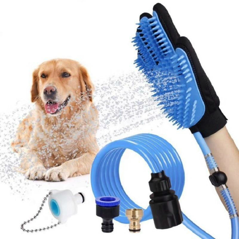 Pet Handheld Shower Dog Cat Bathing Tool Glove 360 Washing Hair