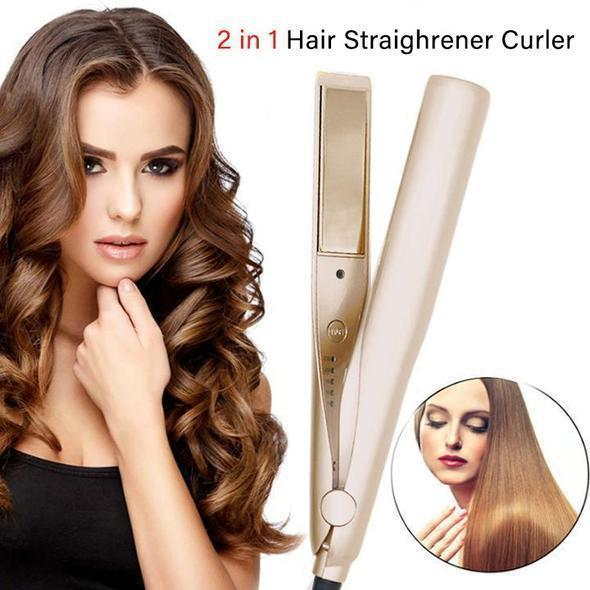 2 IN 1 Hair Straightening Iron Hair Curler