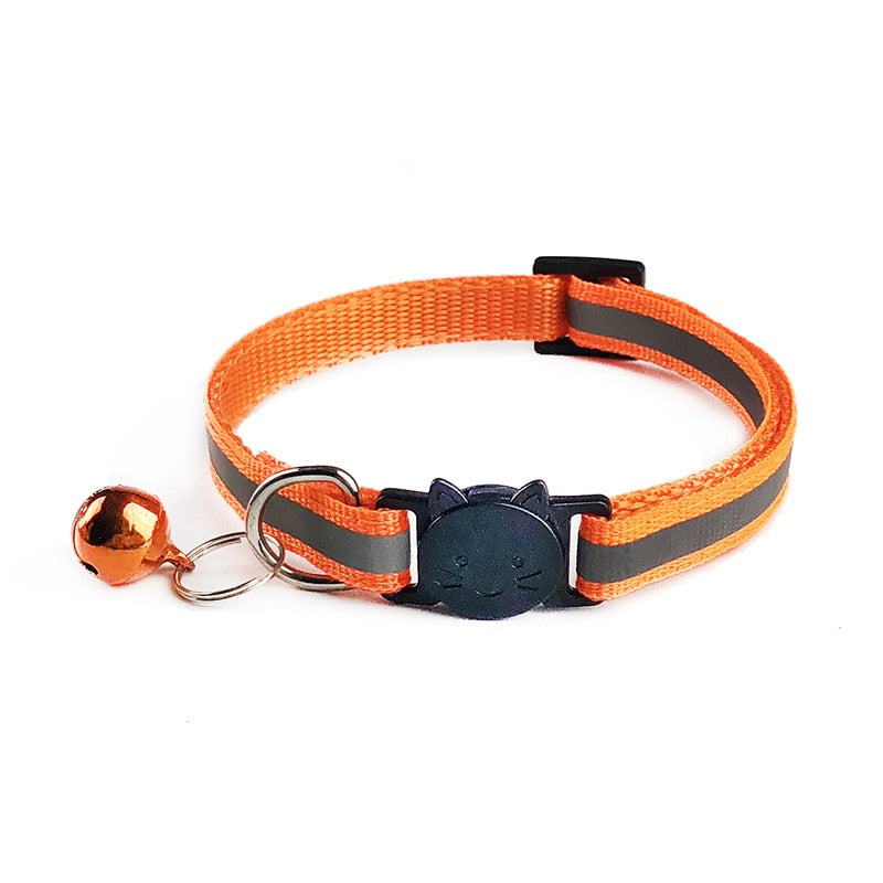 Adjustable Nylon  Pet Dog Cat Collars With Bells