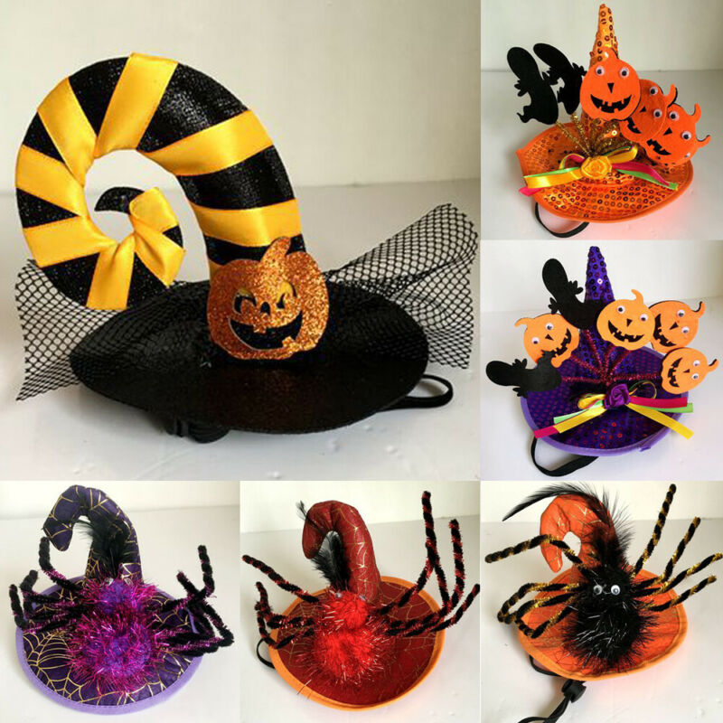 Cat Pet Halloween Costumes Spider Hat Dog Cat