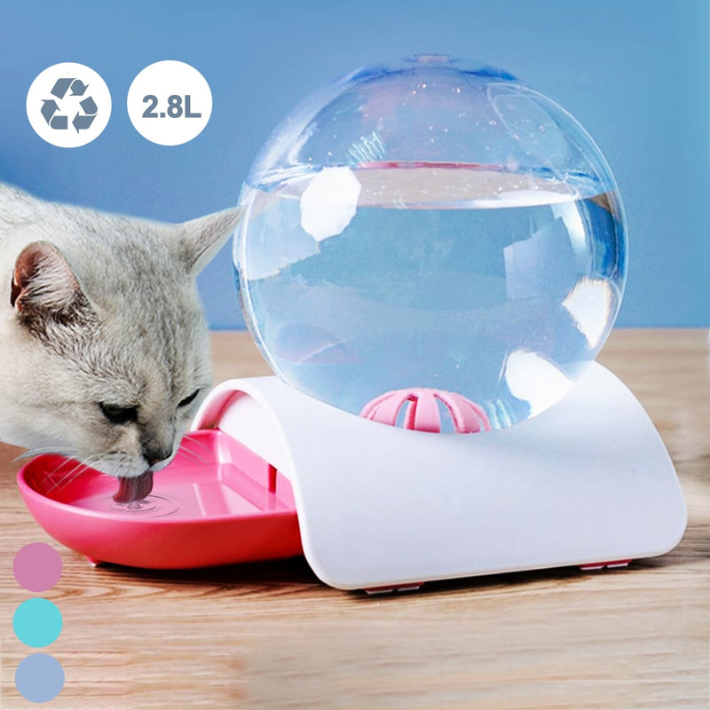 Cats Portable Automatic Pet Feeder Drinking Bottle