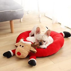 Christmas Cat Dog Bed House for Small Pet