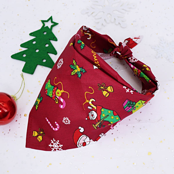 Christmas Pet Dog Bandana Adjustable Dog Scarf Collar