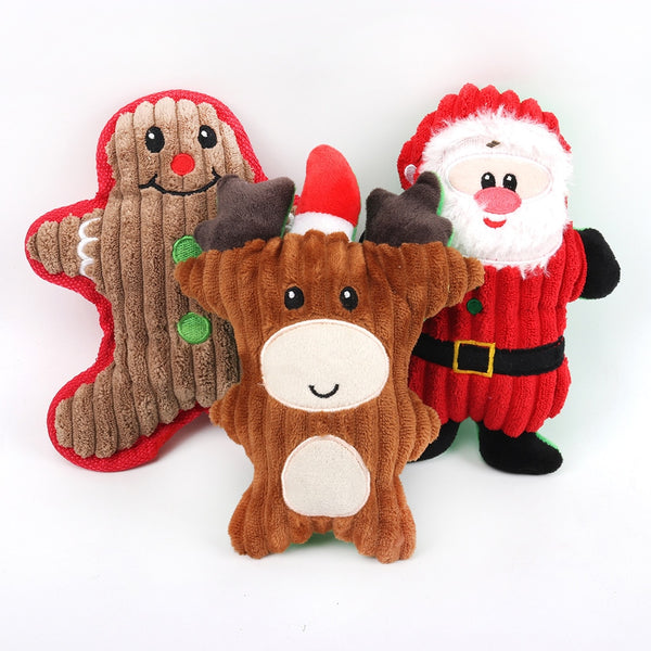 Christmas Pet Dog Toys Sound Toys Chew Squeaker
