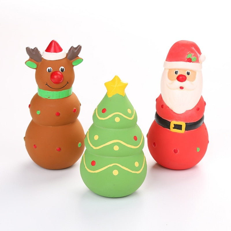 Christmas Santa Claus Tree Pet Plush Dog Toys