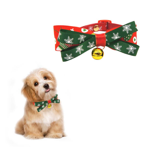 Christmas Series Pet Bowknot Collar Dog Bells Cat Bow Tie