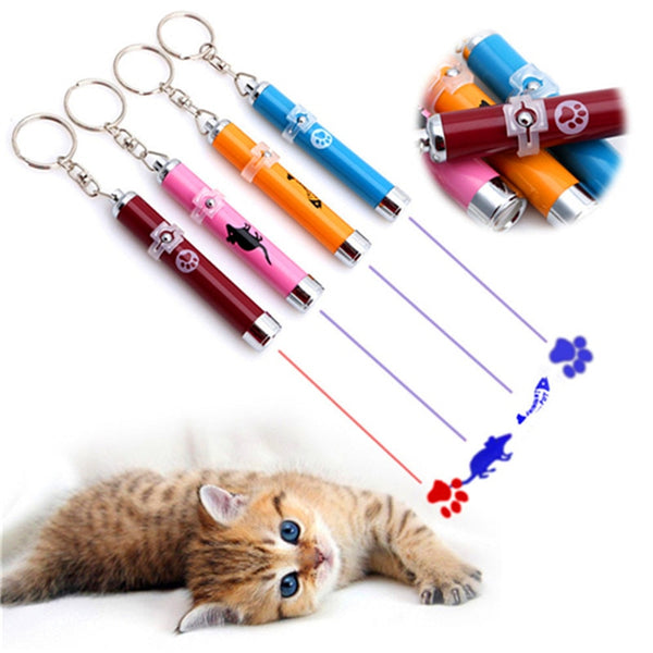 Funny Pet LED Laser Cat Toy With Mouse Shadow