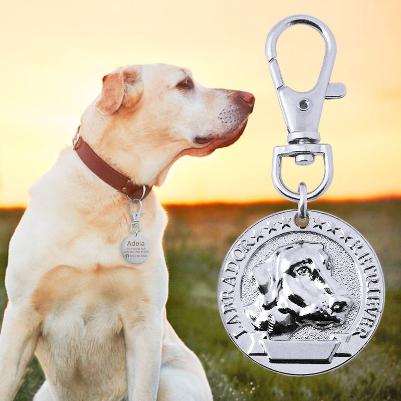 Custom Dog Collar Tag Stainless Steel Pet Id Tags