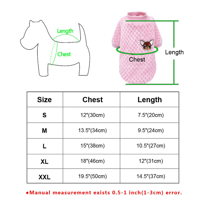 Cute Dog Coat Winter Clothing for Small Dogs Chihuahua Yorkies Pug