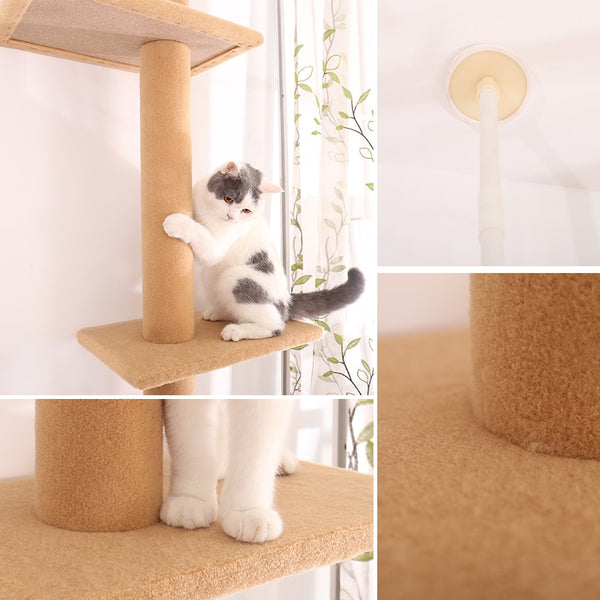 Pet Cat Tree Condo Scratcher Adjustable