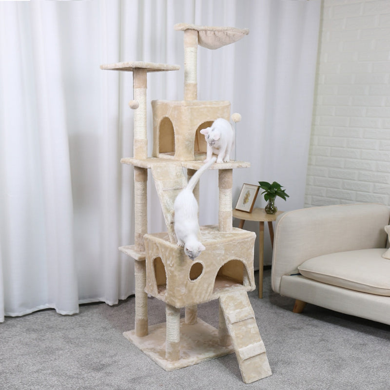 Cats Tree House with Hanging Ball