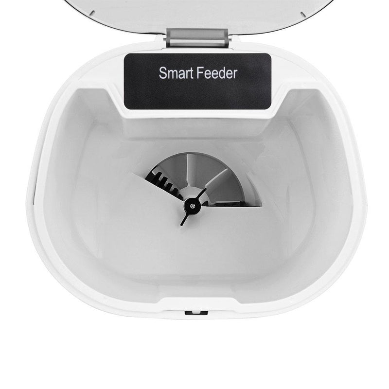 WOPET FV01(White) Timer Programmable Automatic Smart Pet Dog and Cat Feeder-WOPET