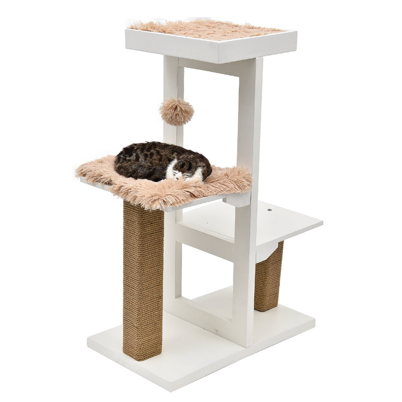 H93cm Cat Toy Solid Wood for Cat House Frame